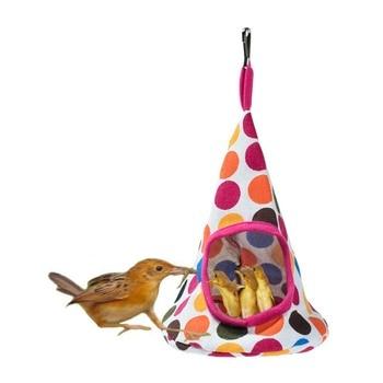 New 5 Colors Pet Cone Basket Birdhouse Hammock Plush Bird Toys Parrot Hammock Warm Hammock Pet Cave Cage Tent Toy House 2