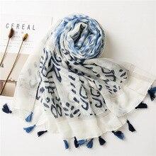 Mexico style ethnic designer long print head scarf muffler women winter scarfs foreign orders Wrap Hijabs Muslim Sjaal