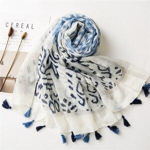Image 1 - Écharpe longue avec imprimé mexicain, de styliste ethnique, écharpe musulmane, écharpe dhiver, commandes étrangères