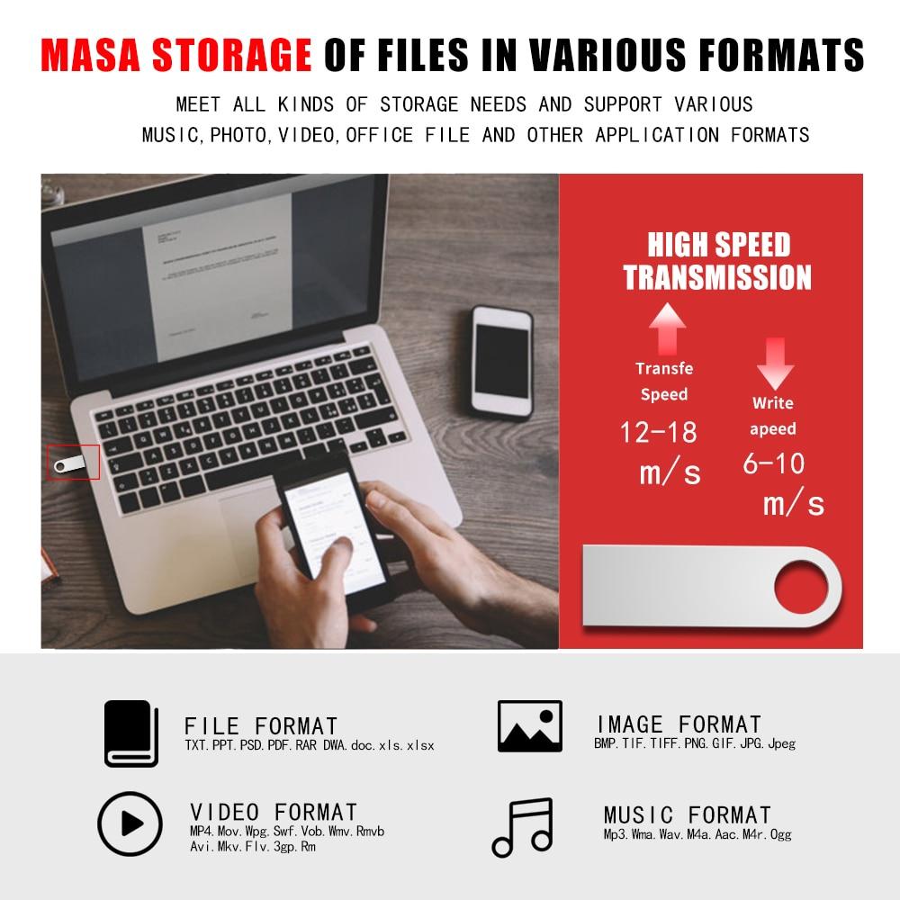 Metal Pen Drive 3.0 PenDrive 32GB 16GB 8GB 4GB High Speed Usb Flash Drive 128GB Key usb Stick 64gb flash memory 256GB Usb Flash (3)