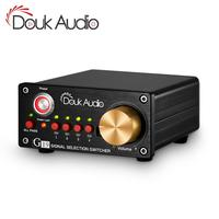 Douk audio 4 way Stereo RCA Audio Manual Switcher Box Amplifier Speaker Selector Splitter