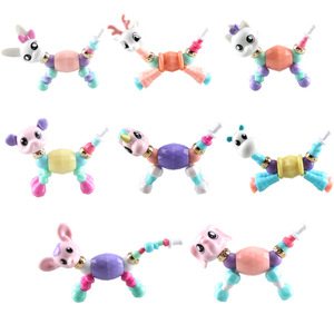 2020 Cute design Children diy Toys Bracelet for Kids twisty Magical Animal Bracelet for Girls Toys Party Bracelet for X-mas Gift