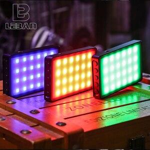 Image 1 - VILTROX Weeylife RB08P RGB 2500K 8500K мини видео Светодиодная лампа, портативный заполнясветильник, встроенный аккумулятор для телефона, камеры, съемки