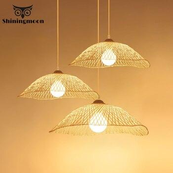 Japanese Restaurant Led Pendant Lights Vintage Wood Creative Pendant Lamps Room Decoration Hanglamp Art Bar Cafe Light Fixtures