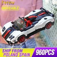Creative MOC Technic Series The Pagani Zonda Cinque Speed Racing Cabriolet Car Set Building Blocks Bricks Kits Model Toys 22208