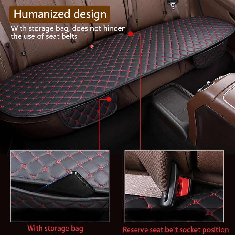Siedzenie samochodowe ze skóry pu pokrowce uniwersalne pokrycie siedzenia samochodu wnętrze poduszka na siedzenie maty ochraniacz na krzesło akcesoria do dywanów