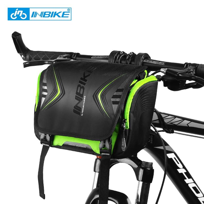 INBIKE Waterproof Bike Bag Large Capacity Handlebar Front Tube Bag Bicycle Pocket Shoulder Backpack Cycling Bike Accessories(China)