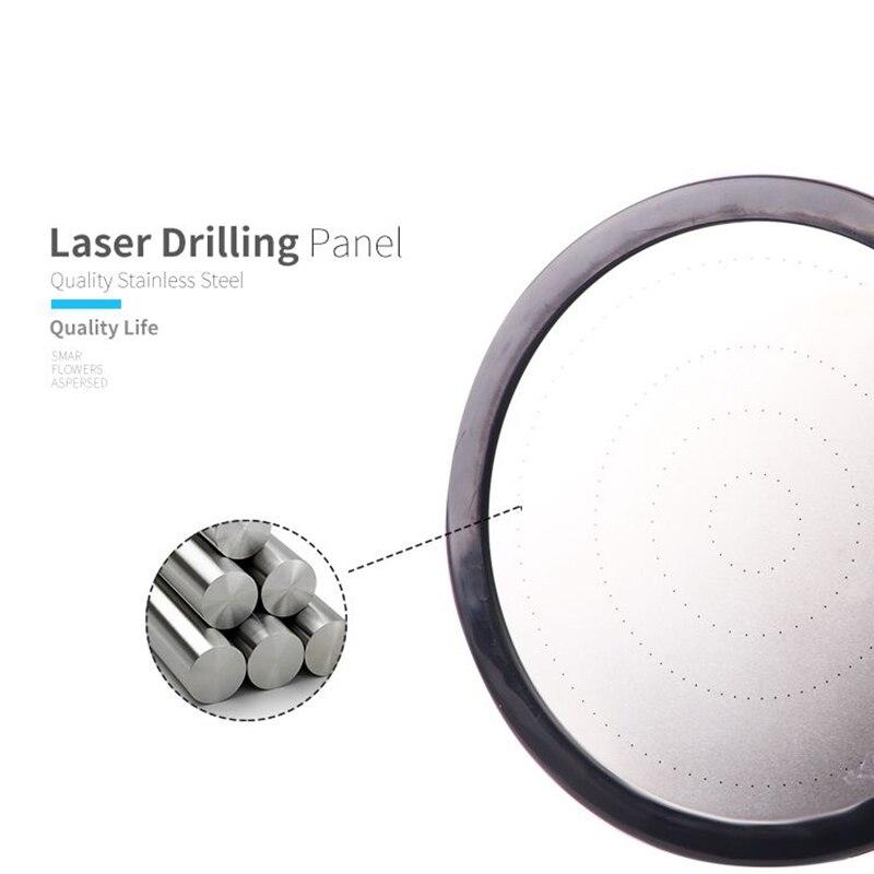 EHEH Dual Purpose Shower Head High Pressure Large Filtration Sprinkler Stainless Steel Panel Bathroom Rainfall Top Showerhead