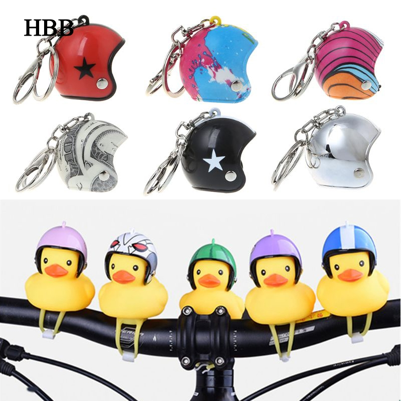 Yellow Duck With Helmet Toy Bicycle Bell Ring Bell For Car Cycling Bicycle Bike Ride Horn Alarm Adult Kids Small Gifts