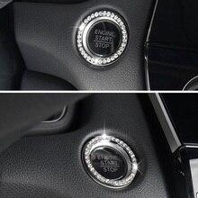 Автомобиль аксессуары Автомобиль Bling кнопка пуск переключатель серебро бриллиант горный хрусталь кольцо декор автомобиль наклейка и автомобиль наклейки и наклейки