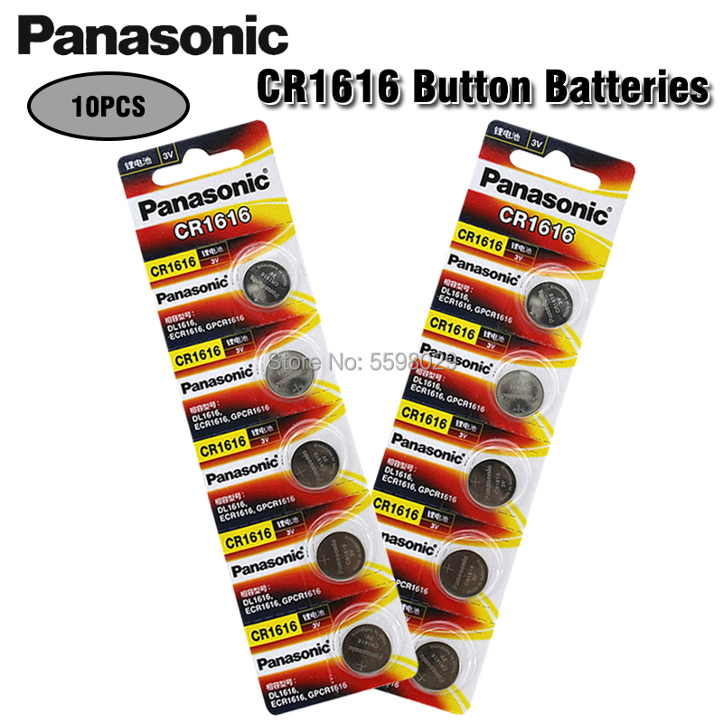 10 шт. Panasonic 100% оригинальная CR1616 Кнопочная батарея для часов автомобильный пульт дистанционного управления cr 1616 ECR1616 GPCR1616 3v литиевая батарея