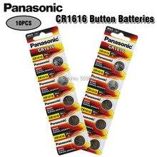 10 pçs panasonic 100% original cr1616 botão bateria celular para relógio de carro remoto chave cr 1616 ecr1616 gpcr1616 3v bateria de lítio