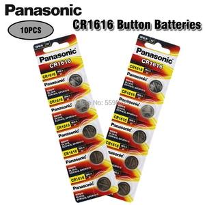 10PCS Panasonic 100% Original CR1616 Button Cell Battery For Watch Car Remote Key cr 1616 ECR1616 GPCR1616 3v Lithium Battery(China)