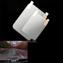 Новый Стайлинг автомобиля HUD светоотражающая пленка система отображения показаний на голове OBD II отображение расхода топлива превышение ск...