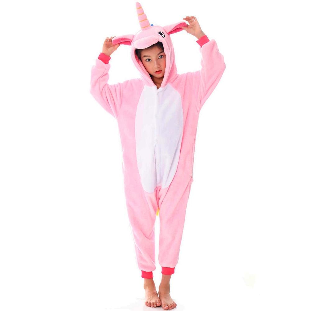 Girls Boys Winter Long Sleeve Onesie Pajamas Unicorn Cartoon Koala Animal Onesies Kids Flannel Jumpsuit Children Pajamas 6