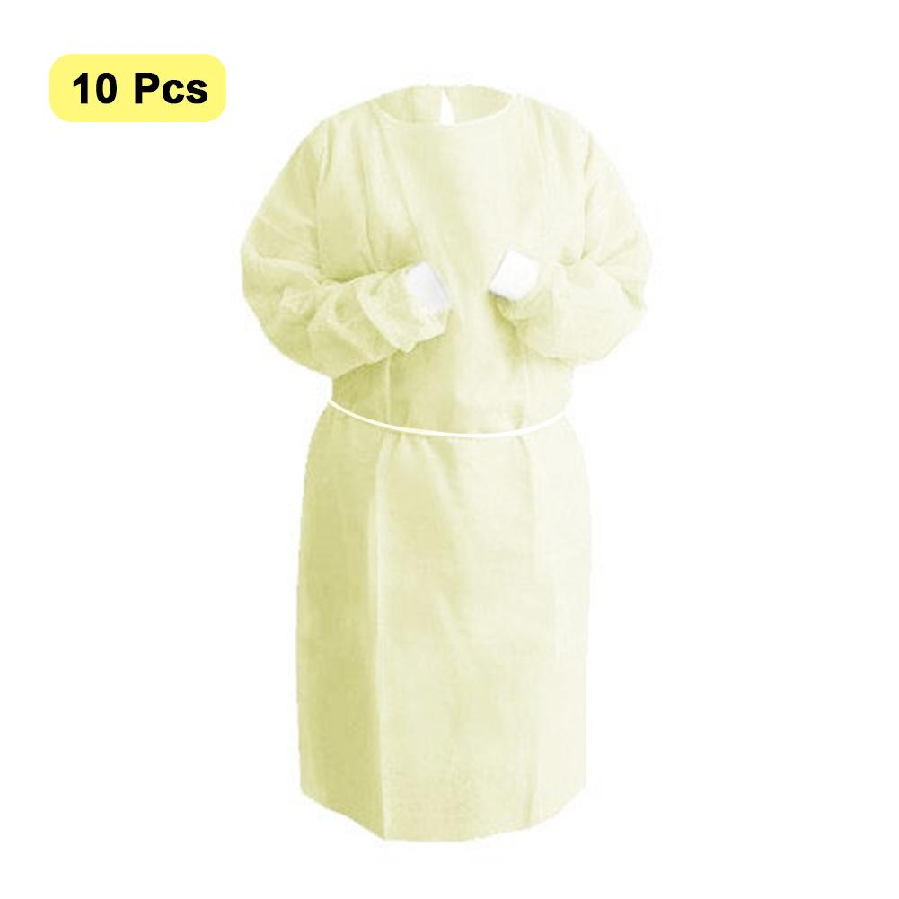 50PCS Coverall Suit Disposable Protective Isolation Gown Clothing Factory Hospital Safety Clothing Protection Coveralls