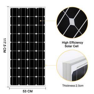 Image 3 - DOKIO 100 واط 18 فولت لوحة طاقة شمسية سوداء الصين خلية/وحدة/نظام/المنزل/قارب 100 واط لوحات شاحن للطاقة الشمسية