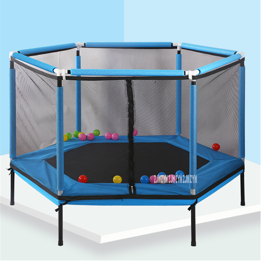 2566 Household Jumping Bounce Bed Protecting Net Equipped Indoor Children's Trampoline Bouncing Bed Interactive Games Fitness
