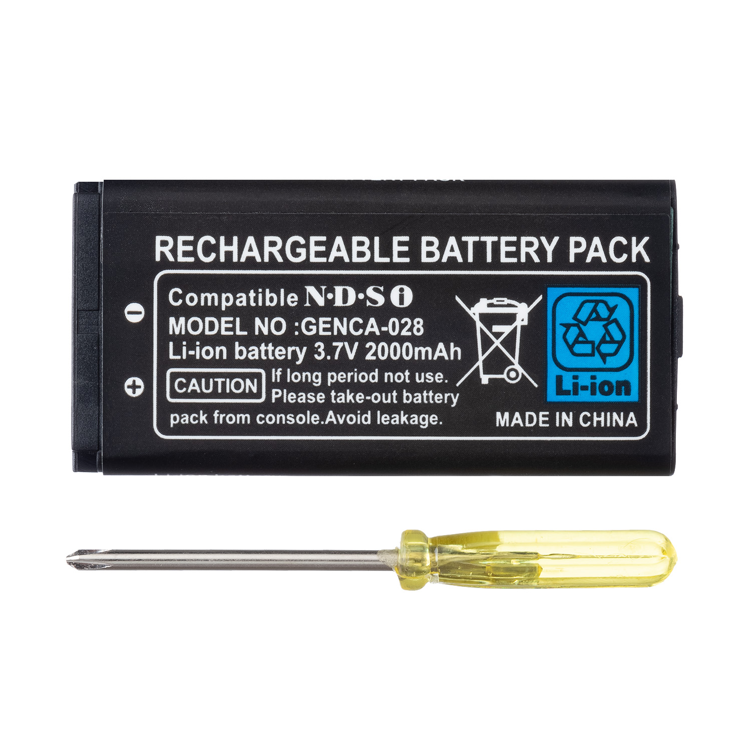 OSTENT 2000mAh Rechargeable Lithium-ion Battery + Tool Pack Kit For Nintendo DSi NDSi