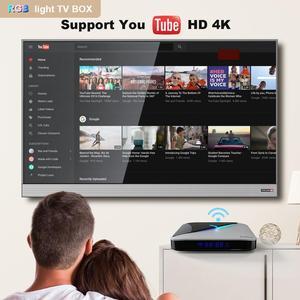 Image 4 - A95X F3 אוויר חכם טלוויזיה תיבת אנדרואיד 9.0 Amlogic S905X3 4GB 64GB 32GB Wifi 4K Youtube 2G 16G ממיר 8K RGB אור אנדרואיד טלוויזיה תיבה