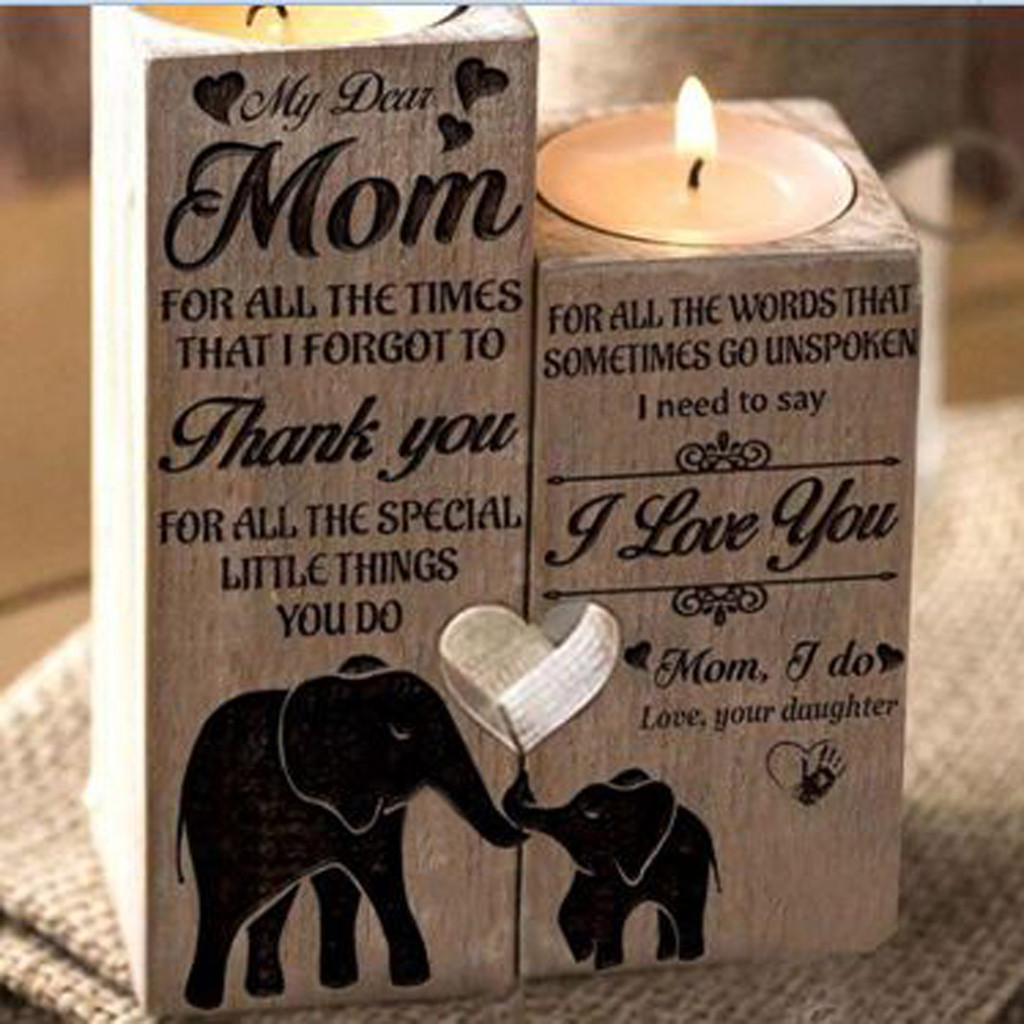 New Design Women Elephant Heart Shaped Solid Candle Woodiness Candlestick Wood Jewelry Box Gifts Jewelry Delicate Jewelry Packaging Display Aliexpress
