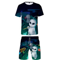 E.T. 2019 3D Print fashion Cosplay Costume Short Sleeve Casual T Shirts + Spring Summer Board Shorts Casual Kids