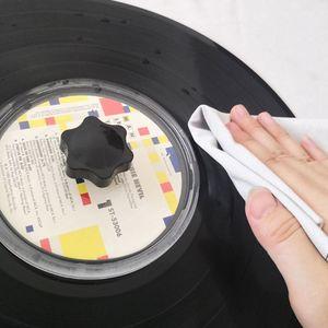 Image 5 - LP płyta winylowa Cleaner Clamp Record Label Saver akrylowe czyste narzędzia Cloth