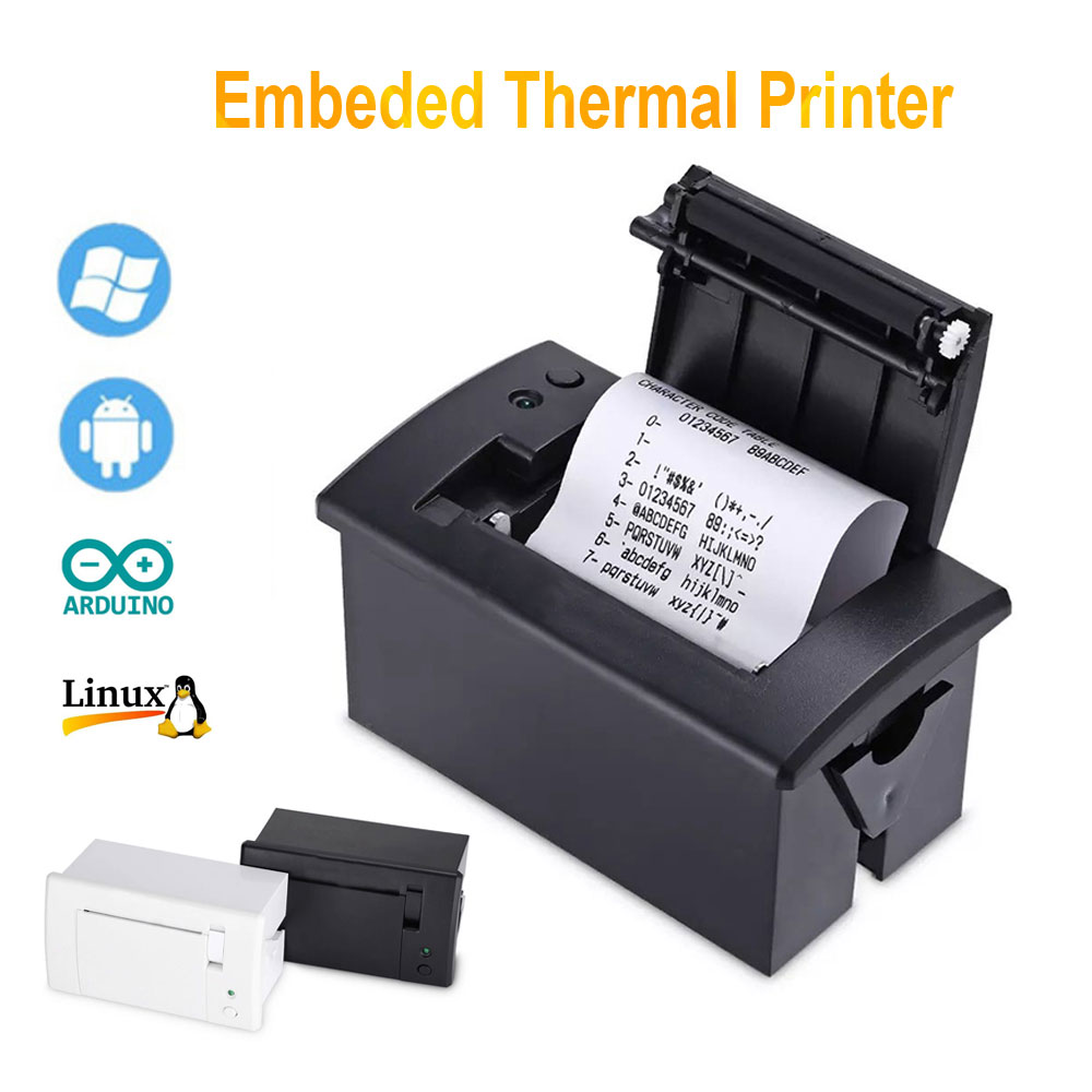 Mini 58mm Panel Embedded Thermal Printer With Interface RS232 TTL Use For Receipt Ticket ESC POS Arduino Android 5v-9v QR701