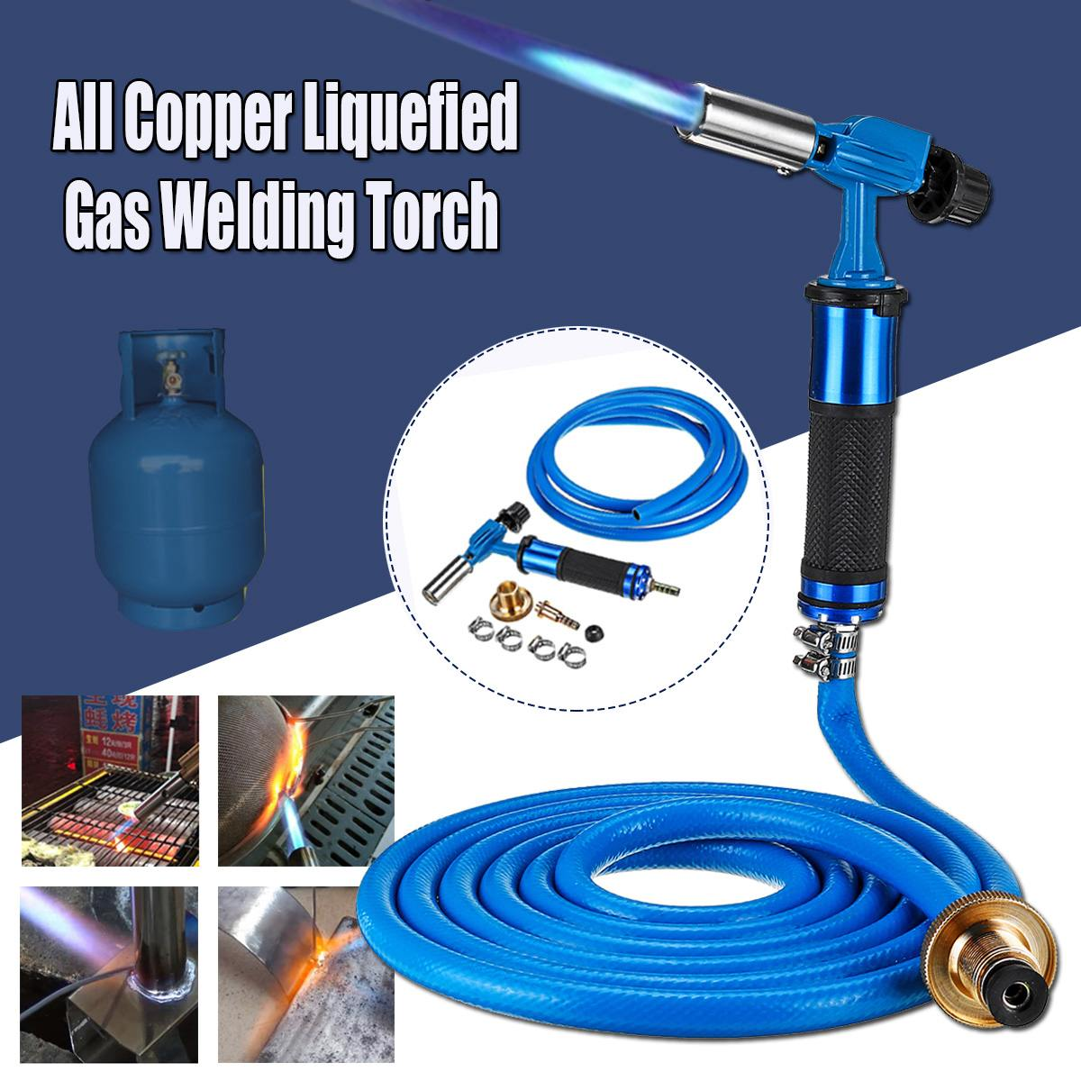 Liquefied Propane Gas Electronic Ignition Welding Torch Machine Equipment with 300CM Hose for Soldering Weld Cooking Heating|Gas Welding Equipment| - AliExpress