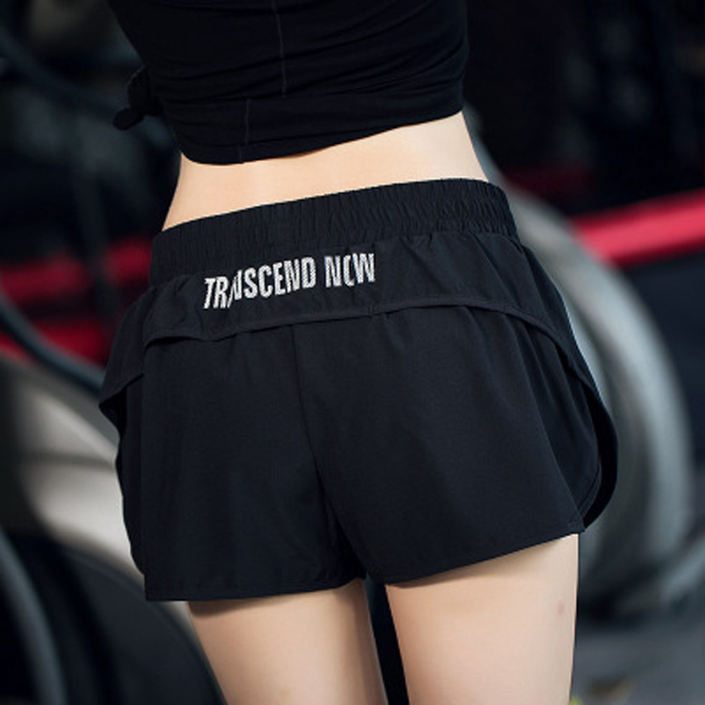 Plus size Women Sports Shorts Running Gym Yoga Fitness Workout Beach Casual