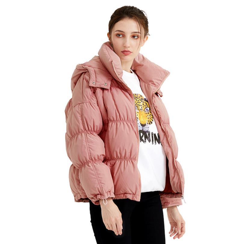 Winter new bread style warm   down     coats   female original design stitching was thin stand collar hooded   down   jacket F78