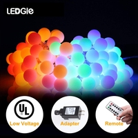 LEDGLE LED Ball String Lights Fairy Garland 220v EU Plug Party lamp for Christmas Wedding New Year Outdoor&indoor Decoration