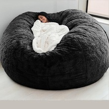 Fur-Bean-Bag Case Bed-Slipcover Recliner Pouf Floor-Seat Lazy-Sofa Couch-Futon Fluffy