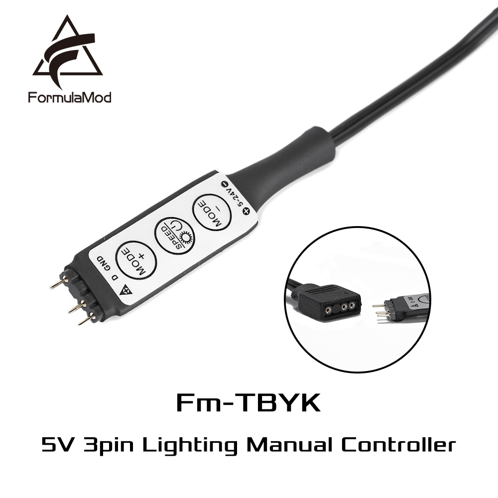 Lighting Manual Controller FormulaMod 5v 3pin A- Rgb Molex 4pin Powered For Aura Fans / Lightings