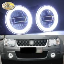 SNCN 3 في 1 وظائف السيارات LED عيون الملاك النهار تشغيل ضوء سيارة العارض مصباح الضباب لسوزوكي جراند فيتارا 2007   2012