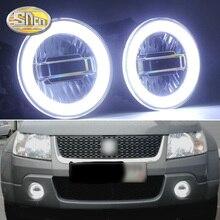 SNCN 3 IN 1 อัตโนมัติ LED Angel Eyes ไฟวิ่งกลางวันรถโปรเจคเตอร์หมอกโคมไฟสำหรับ Suzuki grand Vitara 2007   2012