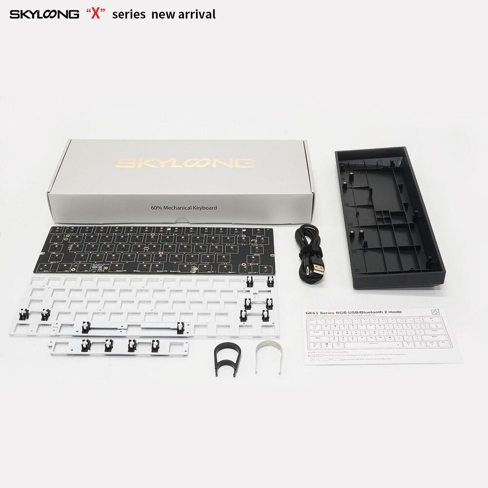 Image 5 - gk61 gk61x 60% custom mechanical keyboard rgb switch leds hot swapping socket powerful software type c pcb split spacebarKeyboards   - AliExpress
