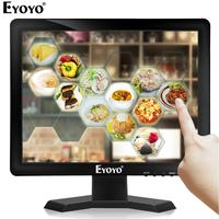 Eyoyo EM15T 15 Touch screen Monitor HDMI VGA LED Screen Display 1024×768 With Speaker for POS System Industrial Computer PC