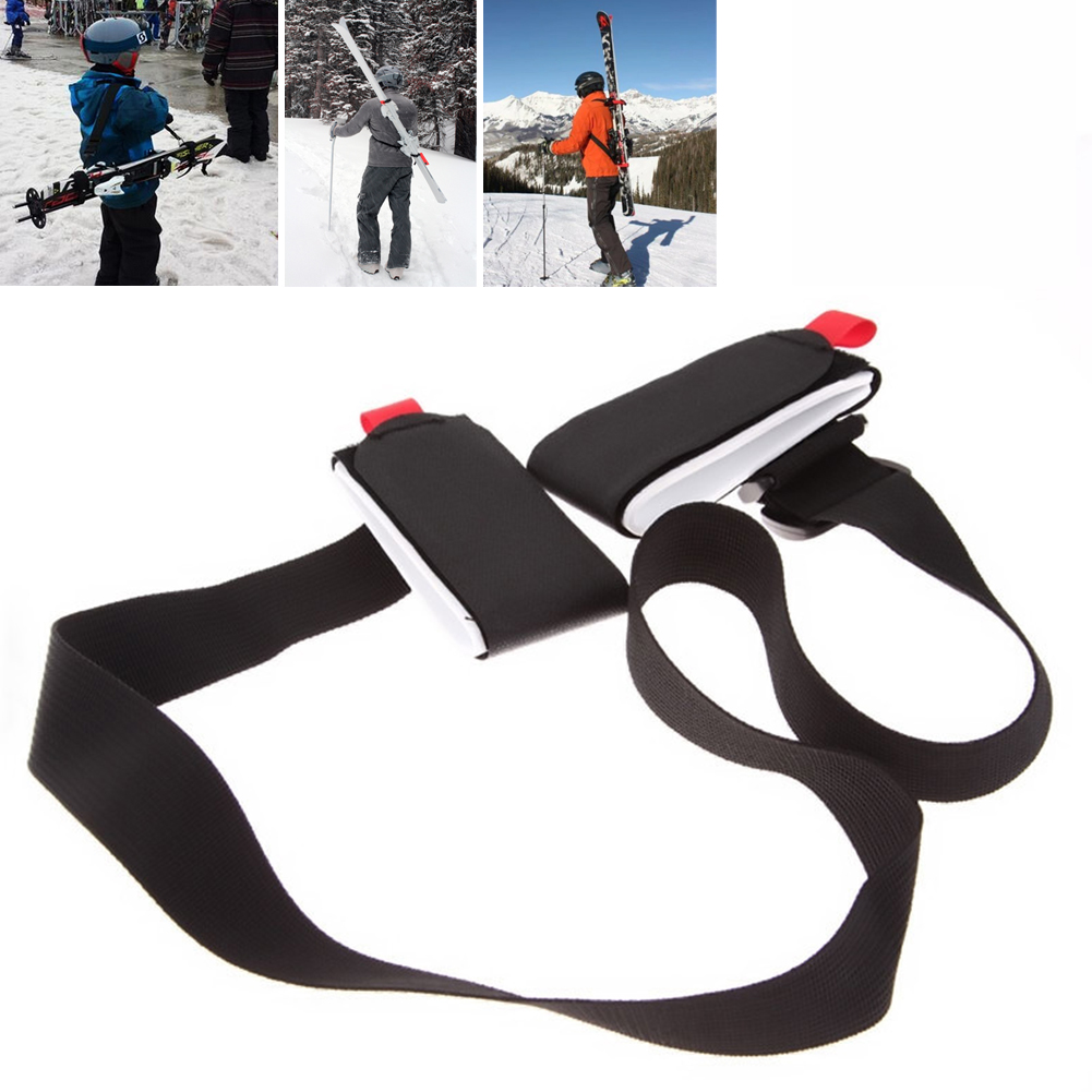 Skis Fixed Strap Adjustable Ski Poles Shoulder Straps Straps Porter Hooks And Loops Protection Nylon Ski Hand Strap Bag