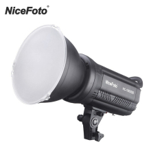 NiceFoto LED Video Light HC 1000SB Photography Lamp LCD Screen CRI95+ 3200K/5600K Dimmable with Wireless Control Color Filters