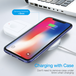 Image 5 - Wireless Charger For Samsung S10 Note 10 Plus S10 Charging Station Wireless Charging For Apple Watch iWatch 2 3 10W Qi Charger