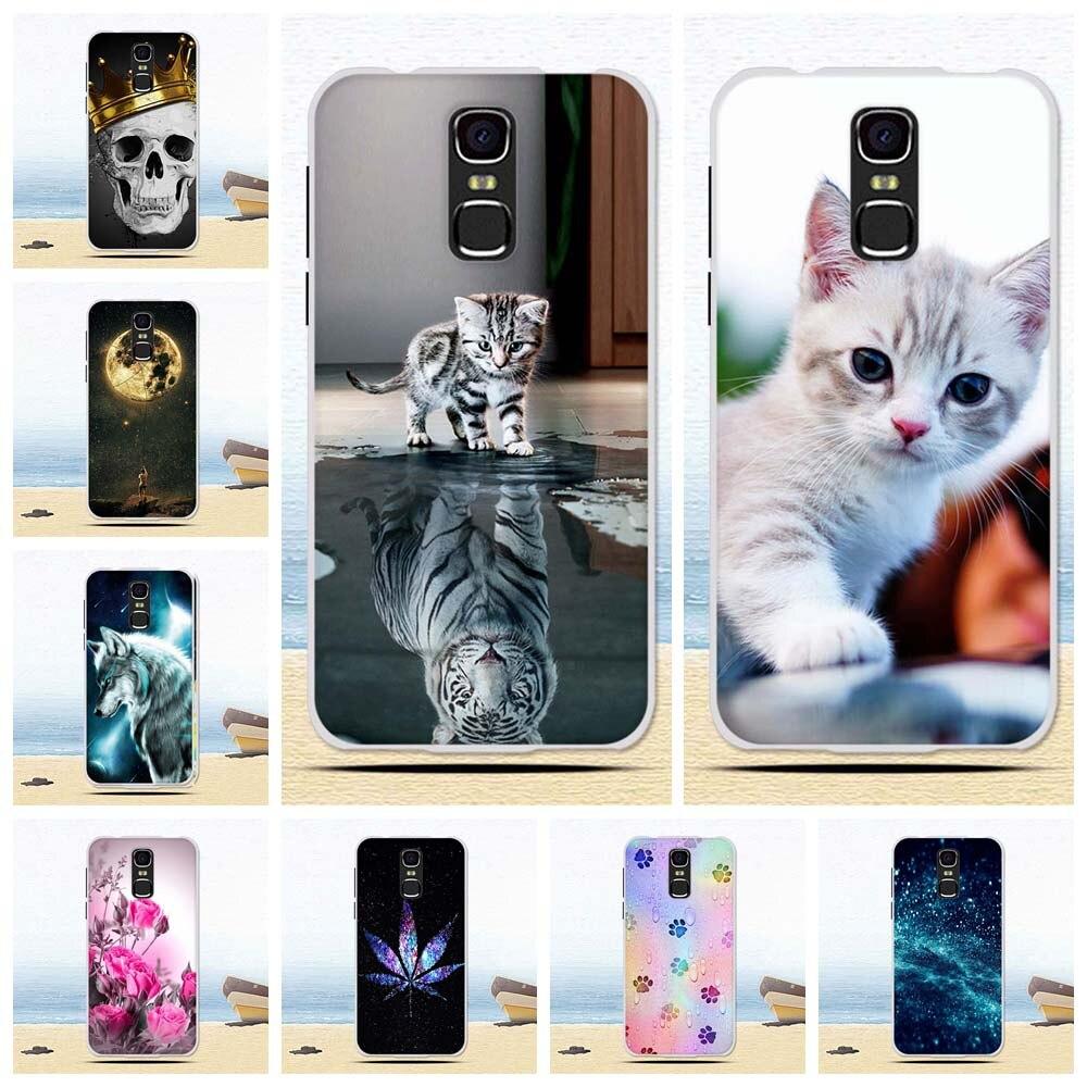 Phone Bumper For BQ Mercury 5520 Case For BQ 5520 BQS-5520 BQ5520 Silicone Panited Cat Flower Cute Animal Shell 5.5 Inch