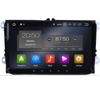 9  Android 10 4+64G Car MULTIMEDIA PLAYER DVD AUTORADIO GPS NAVI for VW GOLF 5 Golf 6 Polo Passat B6 Jetta Tiguan Touran DSP image