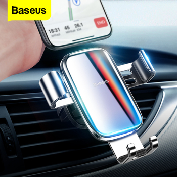 Baseus Luxury Gradient Color Car Phone Holder For iPhone Samsung Gravity Air Vent Mount Clip Car Cell Mobile Phone Holder Stand