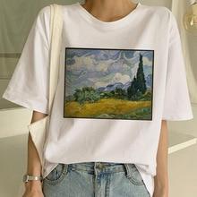 ZOGANKI New T Shirt Art Painting T Shirt Women Funny Print Short Sleeve T-shirt Harajuku Tshirt Fash