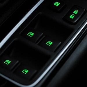Image 2 - Toyota yaris için Seat TOLEDO Leon EXEO Mk3 Mk2 5f Ateca Altea Fr 1m Arona kapı pencere asansör düğme ışık araba Sticker