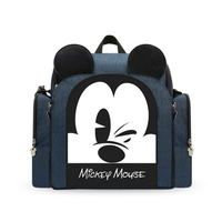 Disney shoulder mummy bag multifunctional large capacity baby out portable stool type mummy bag travel bag|Backpacks & Carriers| |  -