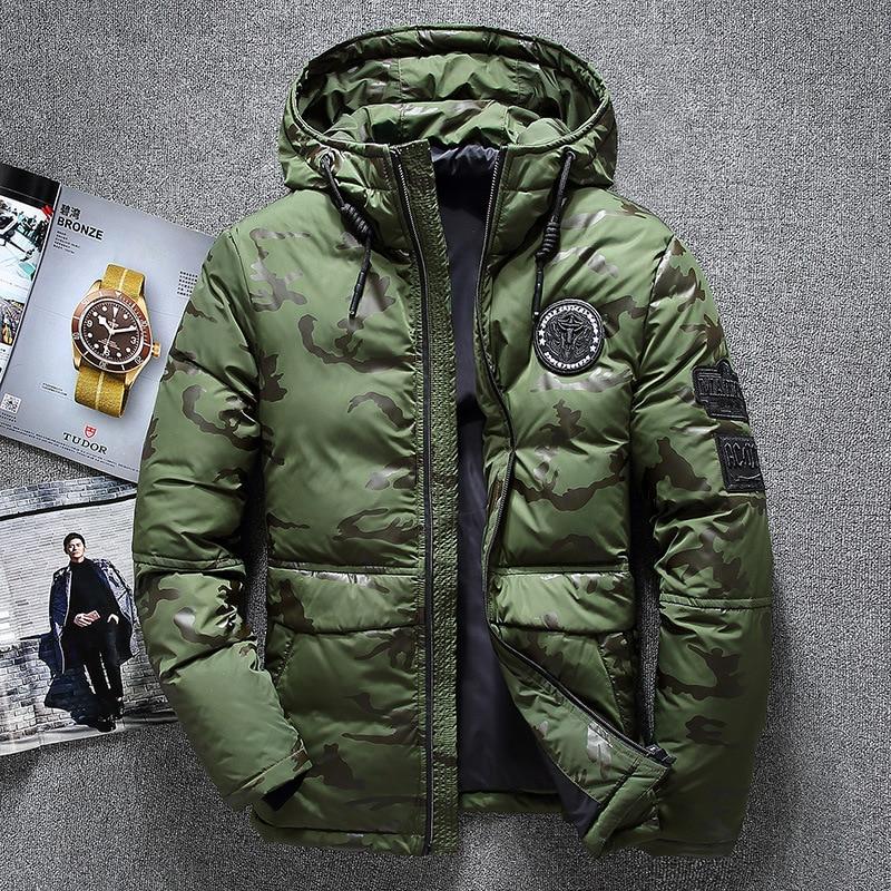 Winter Parkas Jacket Men Windbreaker   Down     Coat   White Duck   Down   Parkas Snow   Down   Parkas Hooded Thick Warm Jackets Overcoat Men