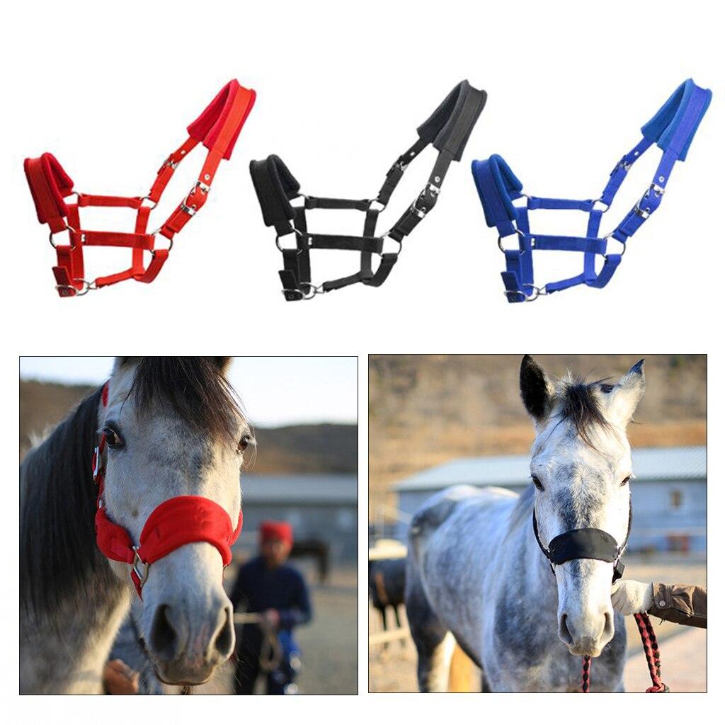 Engrossar cavalo cabresto acolchoado rédea headstall cabeça colar cinta estável cavalo livramento cabresto alça de freio equestre