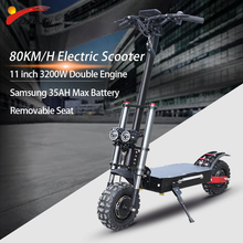 JS 60V3200W Adult Electric Scooter with seat foldable hoverboard fat tire electric kick scooter double motor electric motorcycle
